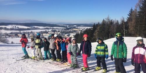 Celá parta lyžařů a lyžařek na lednovém výletu!